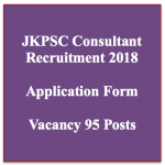 JKPSC Recruitment 2018 Consultant Vacancy 95 Posts MBBS