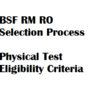 Exam Pattern BSF ASI (RM) HC (RO) Syllabus Selection Process