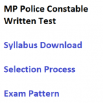 MP Police Constable Syllabus Selection Process Exam Pattern Written