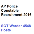 AP Police Constable Recruitment 2016 SCT Warder 4548 Posts