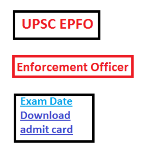 upsc enforcement officer admit card download 2016 exam date eo ao accounts 2017 accounts