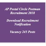 AP Postman Recruitment 2018 Vacancy 245 Posts Andhra Pradesh Postal Circle