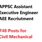 APPSC Recruitment 2016 AEE Assistant Executive Engineer 748 Post
