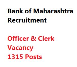 bank of maharashtra bom recruitment officer clerk vacancy
