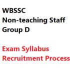 WBSSC Non-teaching Staff Exam Pattern Syllabus Recruitment Process