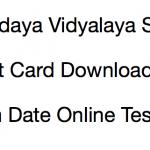 NVS Admit Card 2017-18 Non Teaching Exam Date Navodaya Vidyalaya