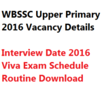 WBSSC Upper Primary TET Interview Date 2016 Call Letter Admit Teacher