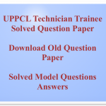 UPPCL Technician Previous Question Paper Download Solved Model PDF