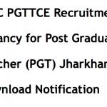 JSSC PGTTCE Recruitment 2017 Teacher Notification Vacancy 1540