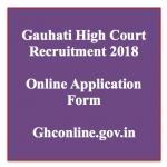 Gauhati High Court Stenographer Recruitment 2018 Vacancy GHCOnline