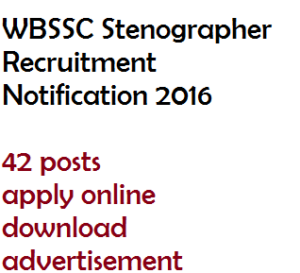 wb stenographer recruitment notification wbssc vacancy