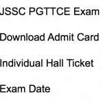 JSSC PGT Admit Card 2017-18 Exam Date PGTTCE Download Hall Ticket