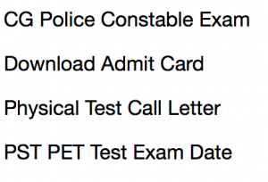 cg police constable admit card download 2018 call letter hall ticket chhattisgarh police cgpolice.gov.in chhattisgarh def constable physical test pst pet call letter physical standard test measurement test pmt pet pst document verification