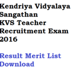 KVS Principal PGT TGT PRT Result 2016 Merit List Kendriya Vidyalaya
