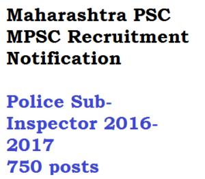 mpsc maharashtra vacancy police si sub inspector recruitment notification download advertisement