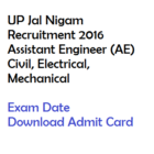UPJN AE Admit Card 2016 Exam Date Download Hall Ticket Civil Mech