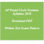 AP Postman Syllabus Andhra Pradesh Postal Circle Mailguard Exam Pattern