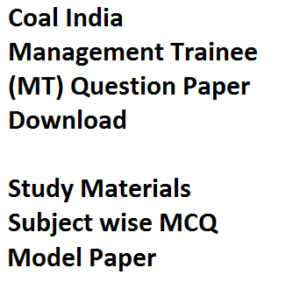 coal india management trainee question paper download previous year solved model mcq study material cil mt limited written exam subject wise chapter trade engineerinhg civil