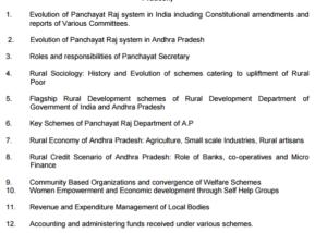 appsc panchayat secretary syllabus screening test written exam pattern scheme