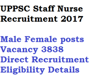 uppsc staff nurse recruitment 2017 notification vacancy download posts eligibility criteria education monthly salary