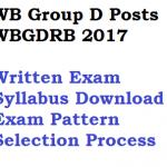 WBGDRB Group D Written Exam Syllabus Selection Process West Bengal