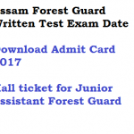 Assam Forest Guard Exam Date 2017 Admit Card Download