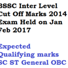 BSSC Inter Level Cut Off Marks Expected Qualifying Score Prelims Exam 2017