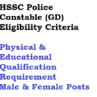 Haryana Constable Eligibility Physical Requirement Qualification HSSC