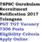 TSPSC PGT TGT Recruitment 2017 Gurukulam 7306 Posts Eligibility