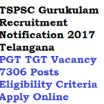 TSPSC PGT TGT Recruitment 2017 Gurukulam 7306 Posts Eligibility