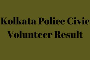 kolkata police civic police result 2019