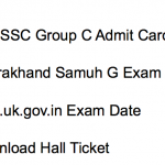 UKSSSC Admit Card 2017 Food Inspector Download Exam Date Group C