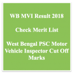 WBPSC MVI Result 2018 Cut Off Marks Motor Vehicle Inspector Merit List