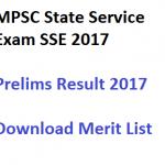 MPSC State Service Prelims Result 2017 SSE Exam Merit List Online