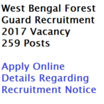 West Bengal Forest Guard Recruitment 2017 Notification 259 Posts WBP