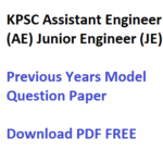 KPSC AE JE Previous Years Question Paper Download Civil Mechanical