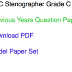 SSC Stenographer Previous Years Question Paper Download C D PDF