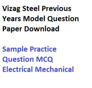 vizag steel plant previous years question paper download model sample practice rinl vishakhapatnam junior trainee jt field assistant pdf