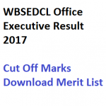 WBSEDCL CPT Result Office Executive 2017 Merit List Cut Off Marks