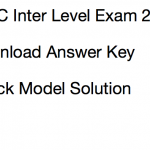 JSSC Inter Level Answer Key 2017 CISCE Prelims Solution Sheet