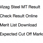 Vizag Steel MT Result 2017 Cut Off Marks Expected Re Exam Merit List