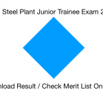 Vizag Steel JT Result 2018 Cut Off Marks Expected Date Re Exam Junior Trainee