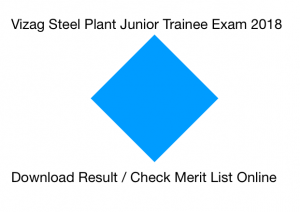 vizag steel plant result 2018 junior trainee merit list jt cut off marks expected electrical electronics metallurgy rinl vishakhapatnam
