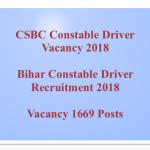 Bihar Police Constable Driver Recruitment 2018 CSBC Driver Bharti