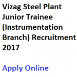 Vizag Steel Junior Trainee Recruitment 2017 Vacancy Instrumentation
