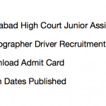 Allahabad HC Admit Card Junior Assistant Stenographer Driver 2017