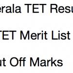 Kerala TET Result December 2017 Cut Off Marks KTET Merit List