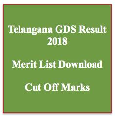 Telangana GDS Result 2019 Gramin Dak Sevak Merit List TS