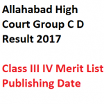 Allahabad High Court Group C D Result 2017 Merit List Class III 4