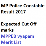 MP Police Constable Result 2017 Cut Off Marks Merit List Expected